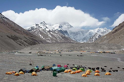 Base camp at Mount Everest. Laurie Friedman/Courtesy photo
