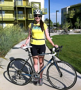 Graduating UCD senior Deborah Schrimmer plans to bike 3,700 miles this summer to raise awareness for affordable housing. Courtesy photo
