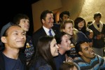 John Garamendi celebrates his win with a group of Dixon interns Tuesday evening at his campaign office in Davis. Fred Gladdis/Enterprise photo