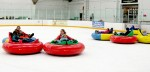 Bumper cars on ice is one of a number of relatively new diversions being offered in winter recreation destinations, along with airboarding, snow bikes and snowkiting.  AP Photo