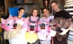 Volunteers, from left, Fiorella Mendoza, Ava Cruz, Eva M. Dopico and Chris Jones return to the Davis Farmers Market's Pig Day celebration again this year to portray the Three Pigs and Big Bad Wolf. Courtesy photo