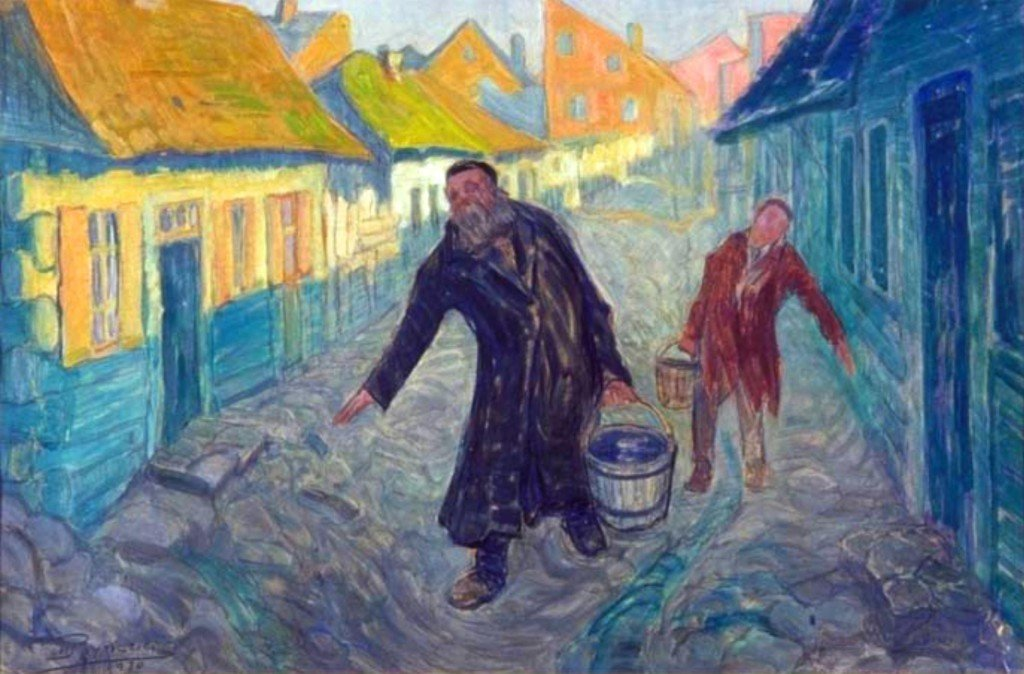 "Moshe Rynecki, who perished in the Holocaust, painted ""The Water Carriers"" in 1930. Courtesy photo"