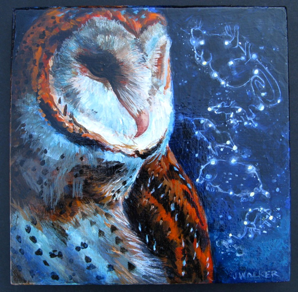 "Jan Walker's painting of a barn owl, titled ""Ready, Set Go!,"" is an example of work exhibited at the Bucks for Ducks Art and Photography Show in 2012. Courtesy photo"