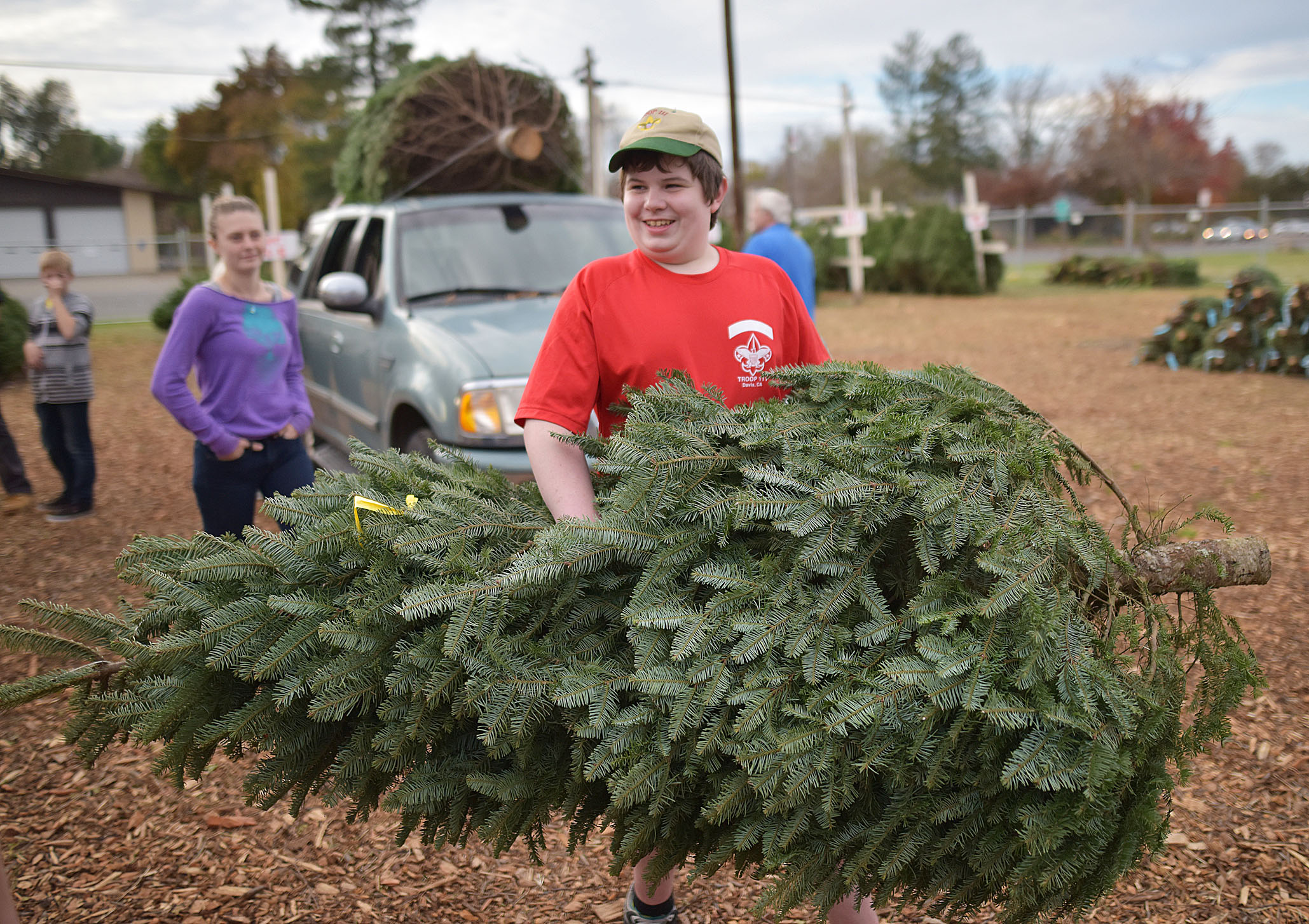 davis boy scouts christmas tree lot is open - Boy Scout Christmas Trees